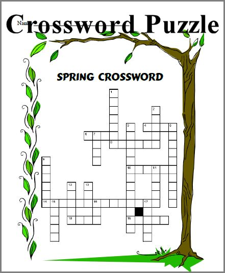 picture relating to Spring Crossword Puzzle Printable identified as CHSH-Prepare - Spring Similar Resorces