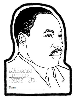 Martin luther king blank writing page new calendar for Martin luther king jr coloring pages to print