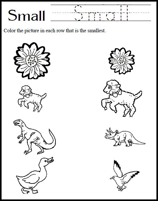 big vs small - Big And Small Coloring Pages